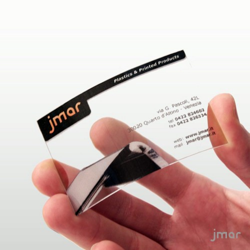 BUSINESS CARD clear printed with your photo
