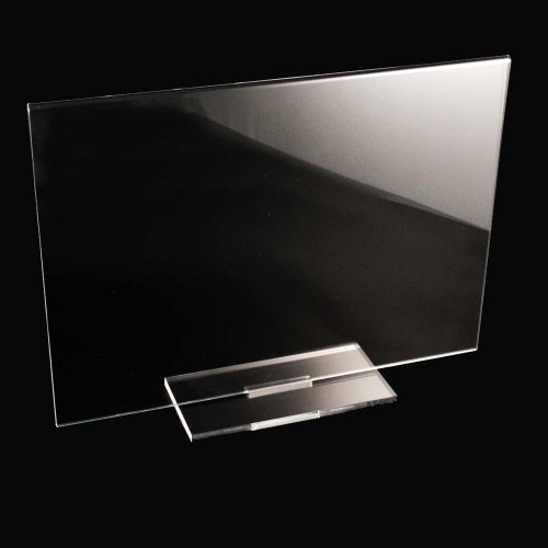Horizontal - vertical double side Acrylic Display with removable base