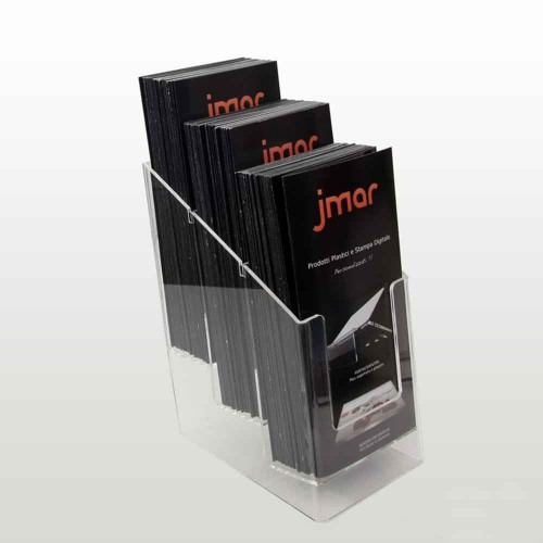 Three pockets acrylic brochure holder