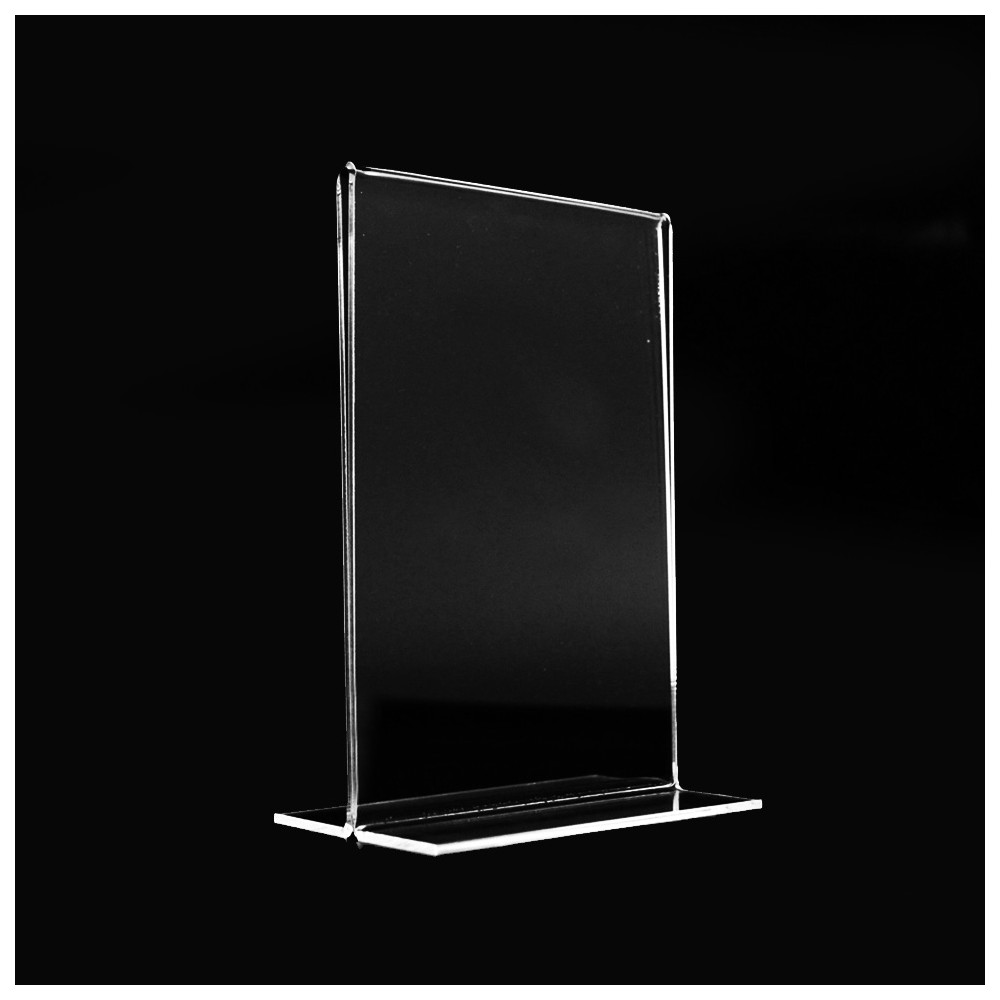 porta menu bifacciale portafoto plexiglas visibile. Black Bedroom Furniture Sets. Home Design Ideas