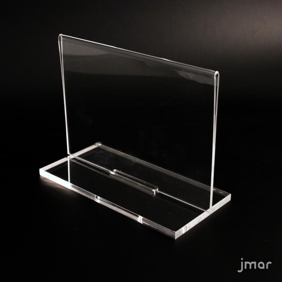 Doppelseitiger Acryl Display mit abnehmbarer Basis